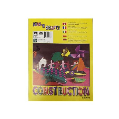Papier Construction Fierro - 36 Feuilles 9''x 12''